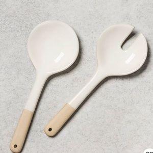Hearth & Hand™ Magnolia2pc Stoneware Salad Tongs
